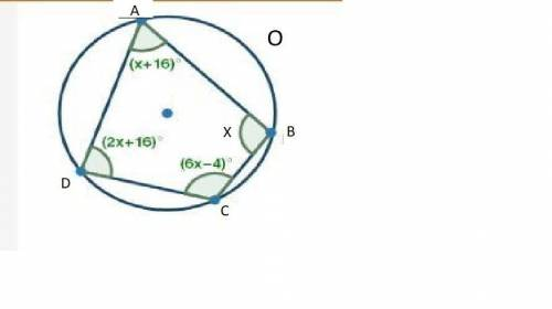 ABCD is a quadrilateral inscribed in a circle, as shown ...