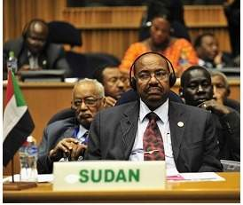 The photograph shows sudanese president omar al-bashir. the international criminal court has been un