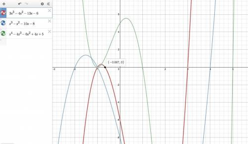 1.) which statements are true about the polynomial function?  f(x)=3x^3-4x^2-13x-6 • (x-3) is a fact
