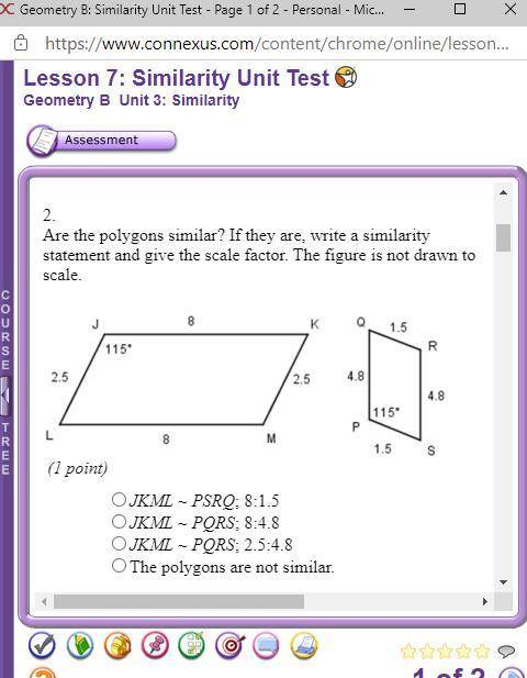 are the polygons similar if they are write a similarity